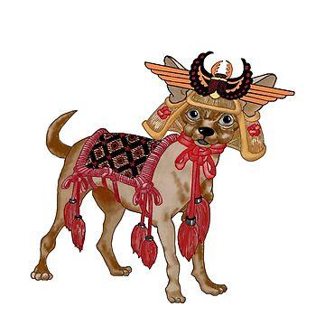 Samurai Chihuahua by redqueenself