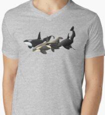 A, B, C, D Men's V-Neck T-Shirt