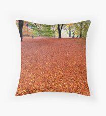Walking the Russet Carpet Throw Pillow