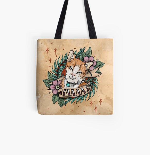 YAAAS Cat All Over Print Tote Bag