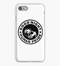 GOOD NIGHT HUMAN PRIDE - GO VEGAN iPhone Case/Skin