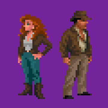 Indiana Jones - pixel art by galegshop