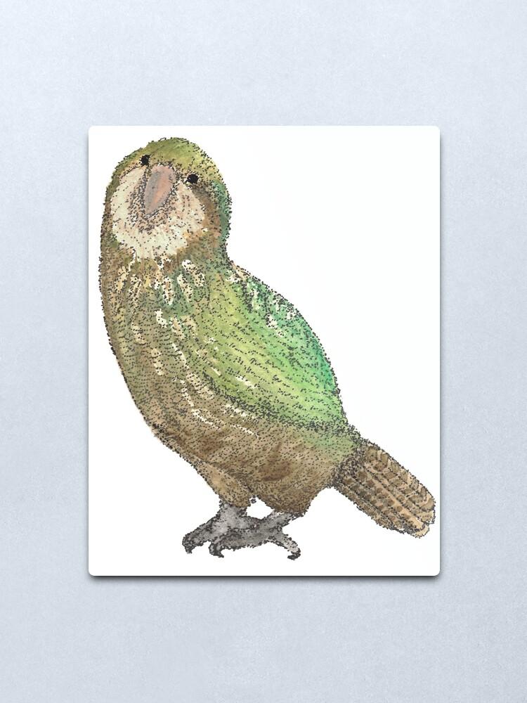 Alternate view of Kakapo Metal Print