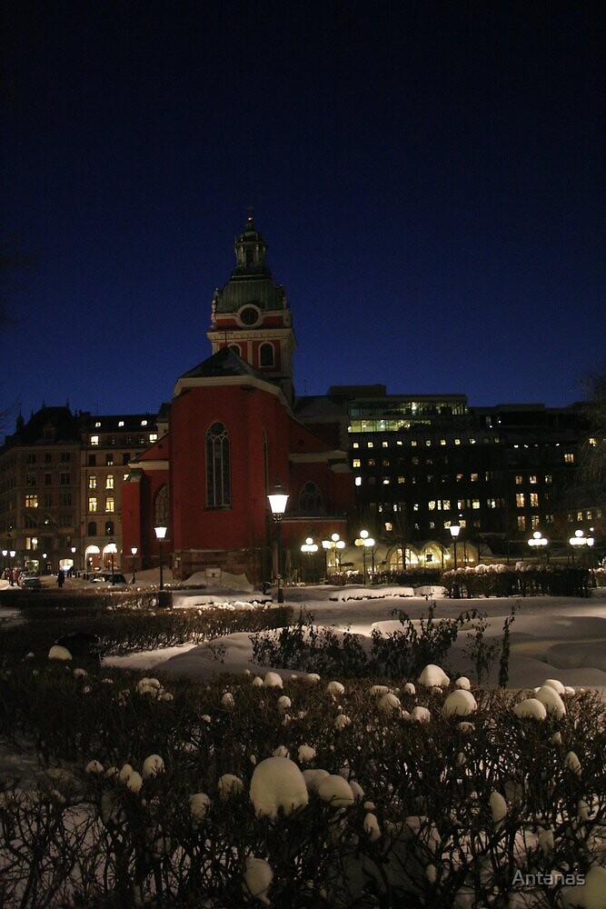 Red Church (Stockholm, Sweden) by Antanas