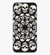 Circle Skulls - Dark iPhone Case