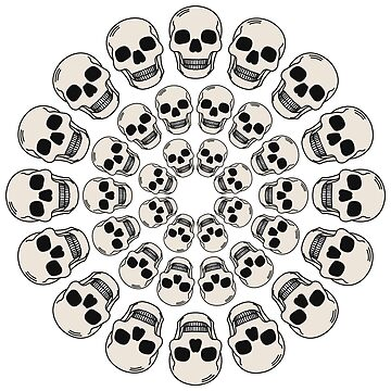 Circle Skulls - Dark by codyjoseph
