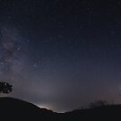Milky Way with Shooting Star by TPRVisuals