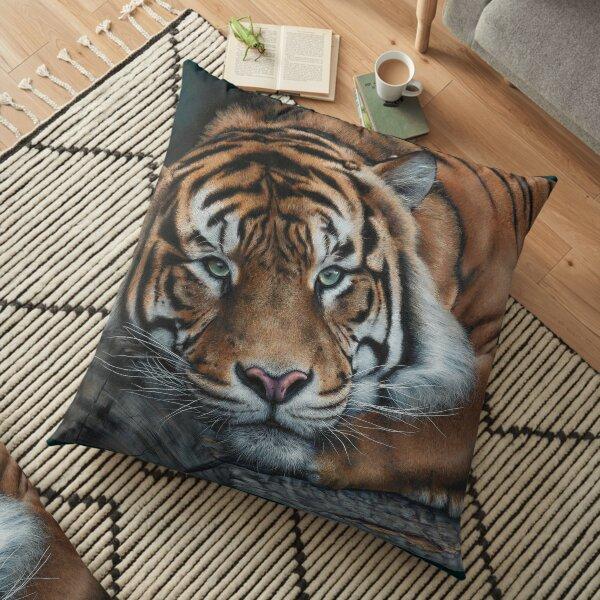 'Sumatran Tiger - Intensity' Floor Pillow