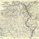 Zwölfter Armeegruppe - Lageplan der 11. März 1945 von allhistory