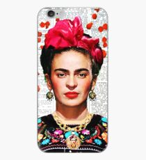 Frida Kahlo blüht Papier iPhone-Hülle & Cover