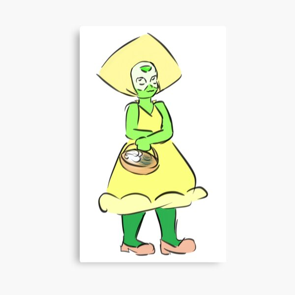 Peridot Flower Girl Canvas Print