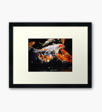 Bubbles and Stars Framed Print