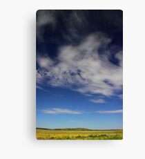 Landscape with clouds Canvas Print