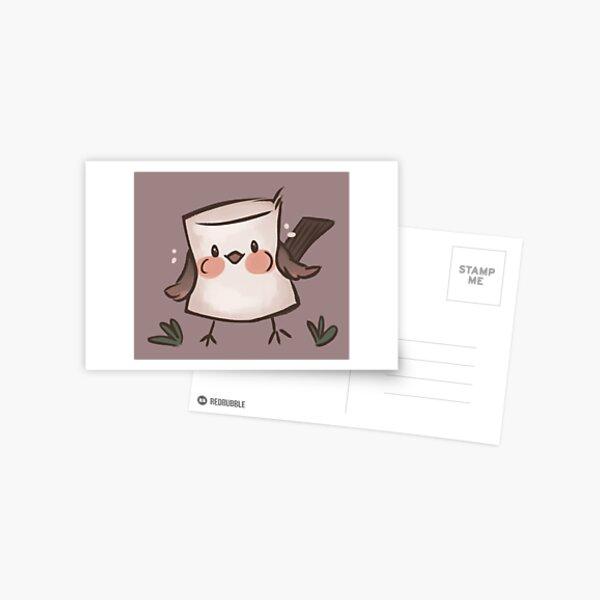 Marshmallow Bird (textless) Postcard