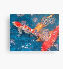 Swim in the Bubbly Metal Print