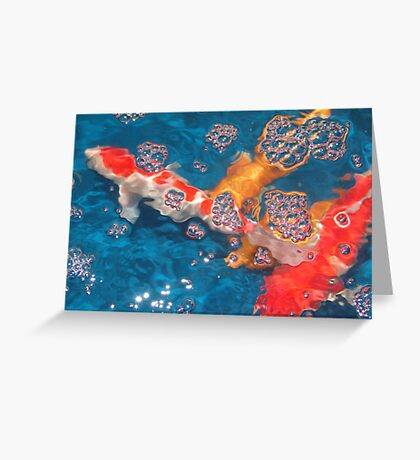 Swim in the Bubbly Greeting Card