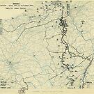 Zwölfter Armeegruppe - Lageplan 12. Oktober 1944 von allhistory