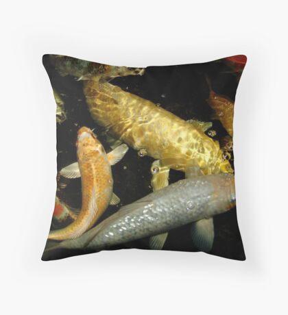 Koi 9 Throw Pillow