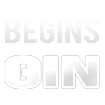 Gin Drinker Life Begins After Drinking Gin by KanigMarketplac