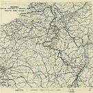 Zwölfter Armeegruppe - Lageplan 9. Januar 1945 von allhistory