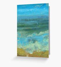 Beach Scene in acrylic Greeting Card