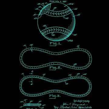 Stitched Baseball Patent  by MarkCompton