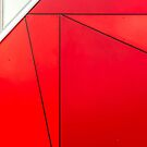 Red and white abstract by franceslewis