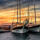 Sunset in the Harbour by Marylou Badeaux