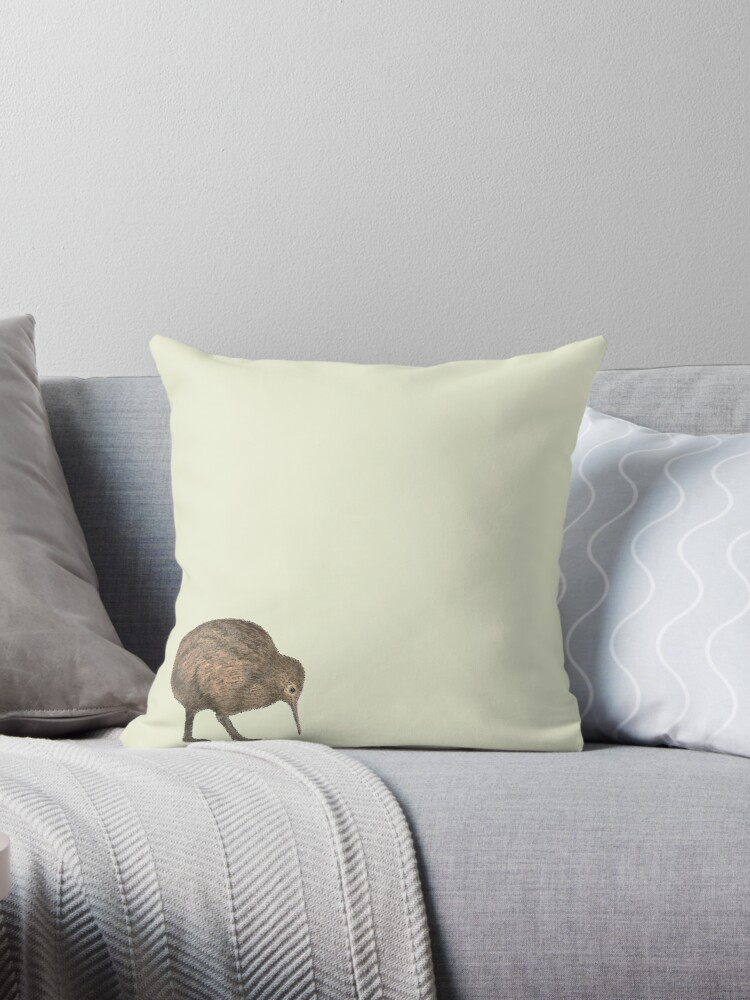 Kiwi Throw Pillow By Walkinghumility Redbubble