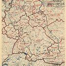 Zwölfte Armeegruppen - Lageplan 23. Juni 1945 von allhistory