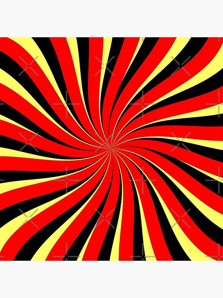 Spiral Schwarz Rot Gelb von pASob-dESIGN