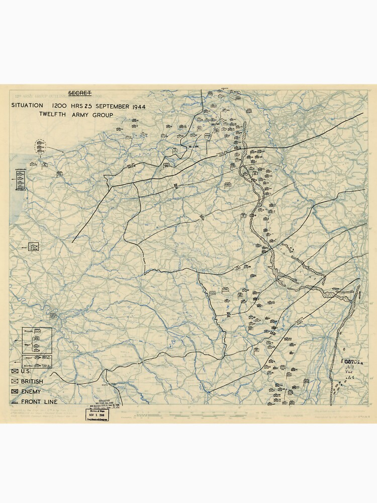 World War II Twelfth Army Group Situation Map September 25 1944 by allhistory