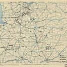 Zwölfter Armeegruppe - Lageplan 14. August 1944 von allhistory