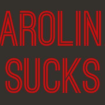 Carolina Sucks - Pewter/Red (Tampa Bay) by caknuck
