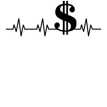 Dollar Sign Heartbeat by rockpapershirts