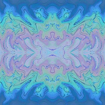 Fantasy Waves Abstract Watercolor by Missman