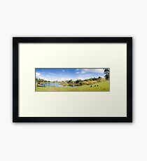 Lake Waratah in North-West Tasmania Australia Framed Print