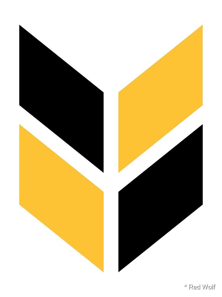 Geometric Pattern: Chevron: Black/Yellow by * Red Wolf