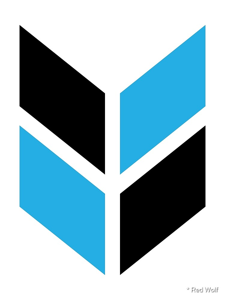 Geometric Pattern: Chevron: Black/Blue by * Red Wolf