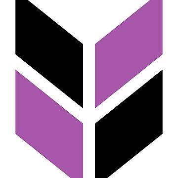 Geometric Pattern: Chevron: Black/Purple by redwolfoz