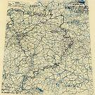 Zwölfte Armeegruppen-Lagekarte des Zweiten Weltkriegs 19. April 1945 von allhistory