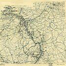 Zwölfter Heeresgruppe Lageplan 23. März 1945 von allhistory