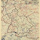 Zwölfter Heeresgruppe Lageplan 16. Juni 1945 von allhistory