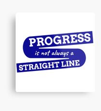 Progress is not always a straight line Metal Print