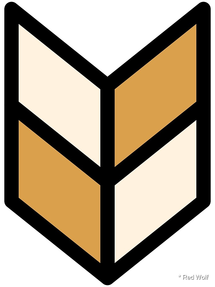 Geometric Pattern: Chevron: Cream/Gold by * Red Wolf