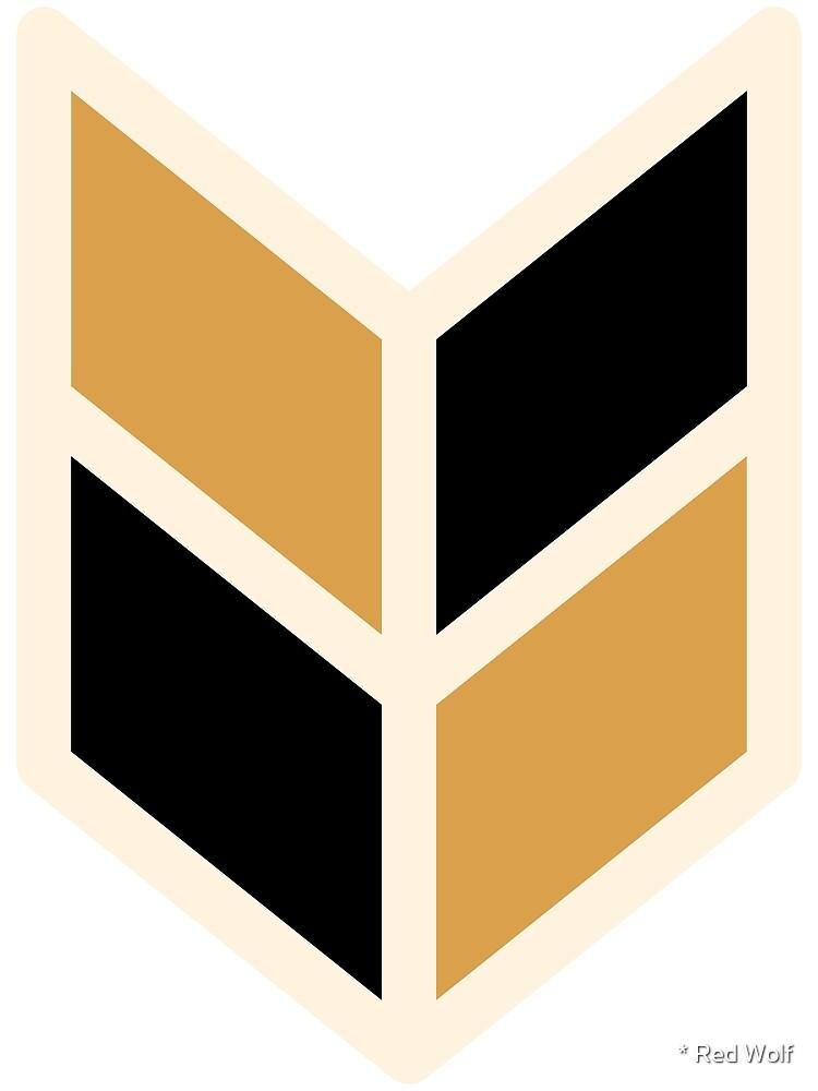 Geometric Pattern: Chevron: Black/Gold by * Red Wolf