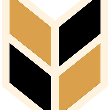 Geometric Pattern: Chevron: Black/Gold by redwolfoz