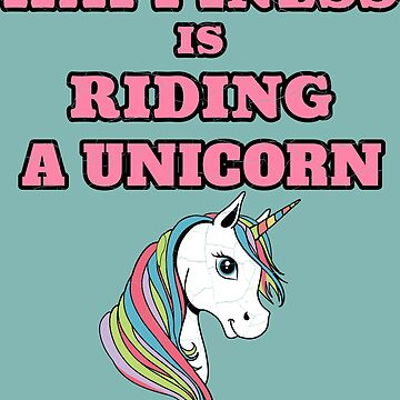 Happiness Is Riding A Unicorn Cute Positive Gift T-Shirt by Klimentina