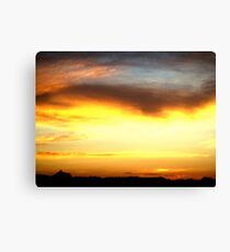 Sunset over Tweed Valley Canvas Print
