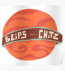 Blips and Chitz Rick and Morty Fan Art Poster